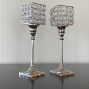 Duo of Decorative Candle Holders